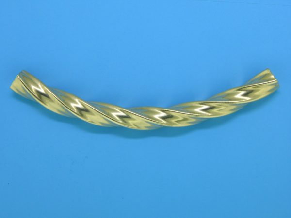 477 - 64mm Square Gold Filled Curved Tube