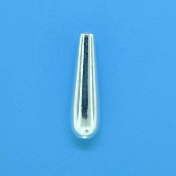 608 - 15mm Sterling Silver Drop Beads