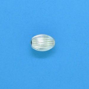 619 - 4x6mm Sterling Silver Fancy Beads