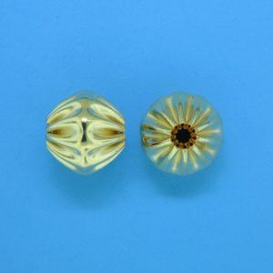 841 - 10.5x11mm Gold Filled Fancy Bead