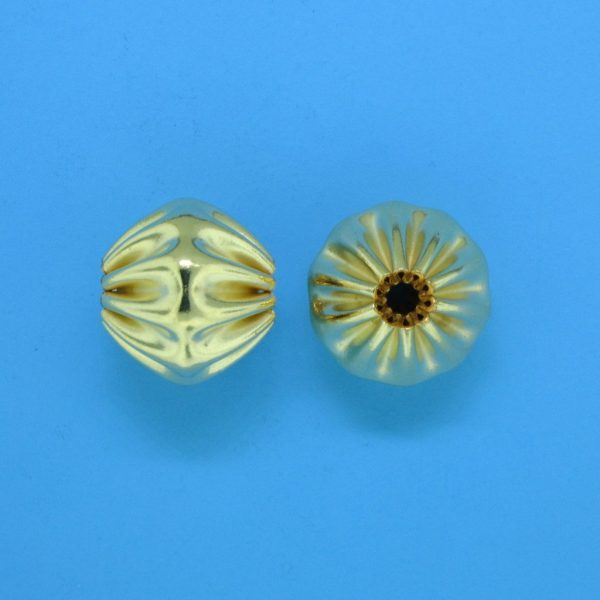 841 - 10.5x11mm Gold Filled Fancy Bead