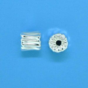 652 - 5mm Sterling Silver Bone Shape Bead