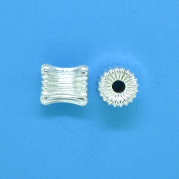 628 - 6mm Sterling Silver Bone Shape Bead