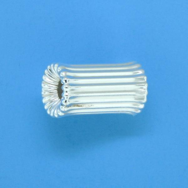 631 - 12mm Sterling Silver Bone Shape Bead