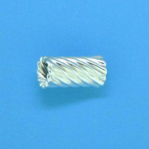 653 - 11mm Sterling Silver Fancy Beads