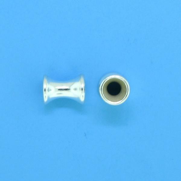 1231 - 5.5mm Sterling Silver Fancy Beads
