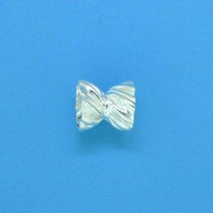 644 - 6mm Sterling Silver Fancy Beads