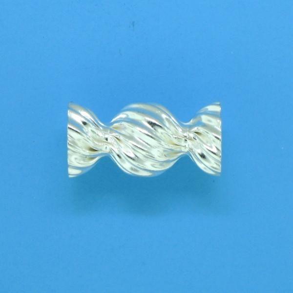 645 - 13mm Sterling Silver Fancy Beads