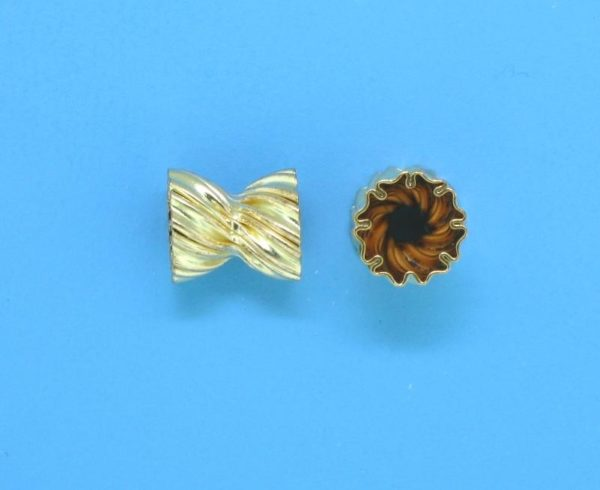 186 - 5.3x6.3mm Gold Filled Bead Cap