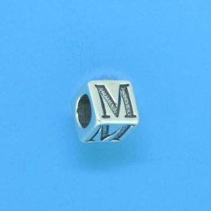 1310 - 6.5mm Sterling Silver Alphabet - M