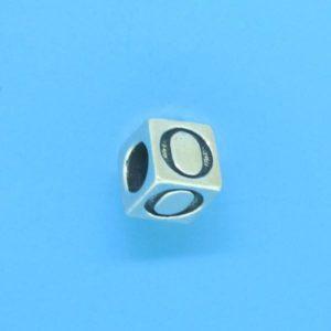 1310 - 6.5mm Sterling Silver Alphabet - O