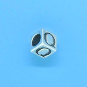 1310 - 6.5mm Sterling Silver Alphabet - Q