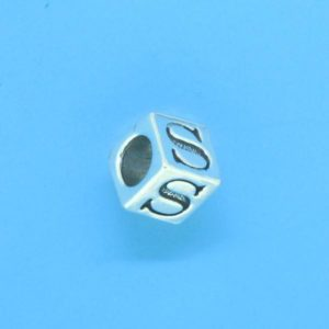 1310 - 6.5mm Sterling Silver Alphabet - S