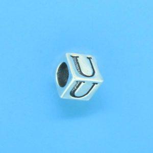 1310 - 6.5mm Sterling Silver Alphabet - U