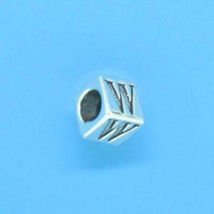 1310 - 6.5mm Sterling Silver Alphabet - W