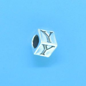 1310 - 6.5mm Sterling Silver Alphabet - Y