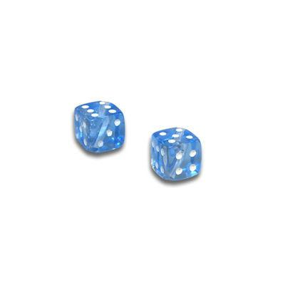 9301 - 4x4mm Transparent Small Dice Bead - Light Blue