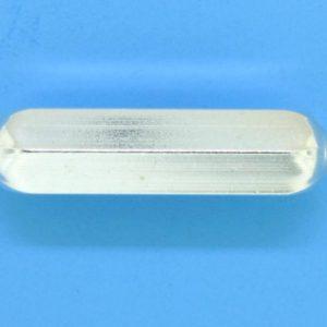 1247 - 25.5x6mm Sterling Silver Fancy Bead