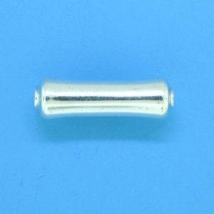 1253 - 16x5mm Sterling Silver Fancy Bead