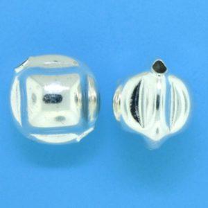 1266 - 11mm Sterling Silver Fancy Bead