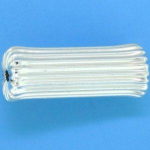 1267 - 22x9mm Sterling Silver Fancy Bead