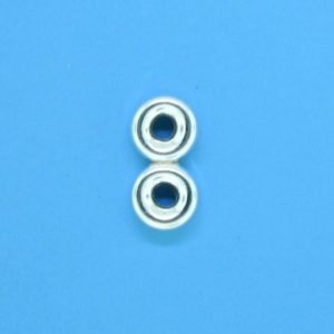 1293 - 5mm Sterling Silver Spacer Bead