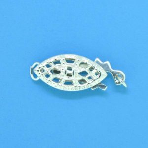 673 - Sterling Silver Fish Hook Clasp