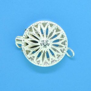 696 - Sterling Silver Round Filigree One Strand Clasp