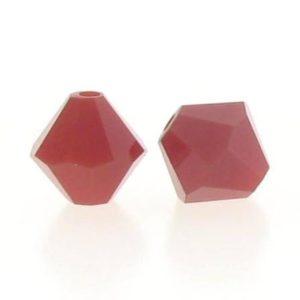5301/5328 - 6mm Swarovski Bicone Crystal Bead - Dark Red Coral
