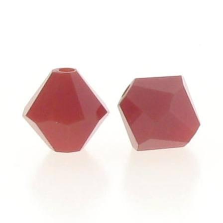 5301/5328 - 6mm Swarovski Bicone Crystal Bead -Dark Red Coral