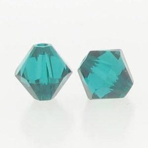 5301/5328 - 6mm Swarovski Bicone Crystal Bead - Emerald