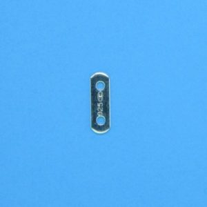 1373 - 4mm/2h Sterling Silver Spacer Bar