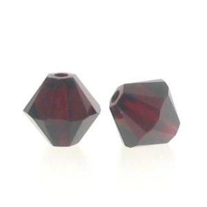 5301/5328 - 6mm Swarovski Bicone Crystal Bead - Garnet