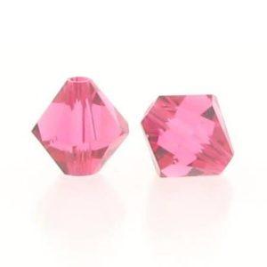 5301/5328 - 6mm Swarovski Bicone Crystal Bead - Indian Pink