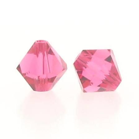 5301/5328 - 6mmSwarovski Bicone Crystal Bead - Indian Pink