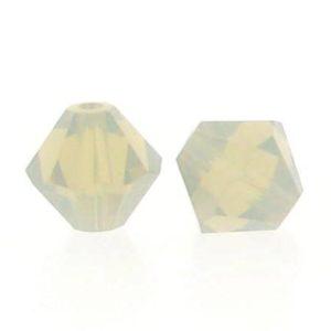 5301/5328 - 6mm Swarovski Bicone Crystal Bead - Light Grey Opal