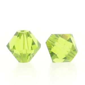 5301/5328 - 6mm Swarovski Bicone Crystal Bead -Light Olivine