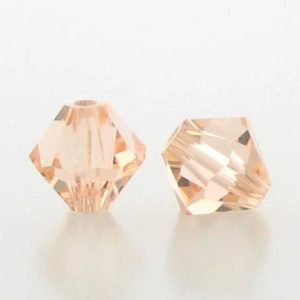 5301/5328 - 6mm Swarovski Bicone Crystal Bead - Light Peach