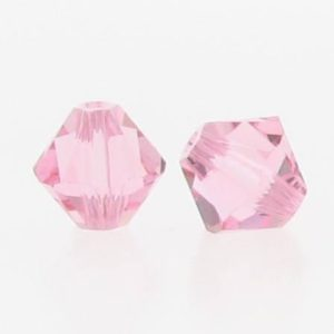 5301/5328 - 6mm Swarovski Bicone Crystal Bead - Light Rose