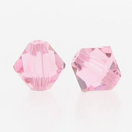 5301/5328 - 6mm Swarovski Bicone Crystal Bead - Light Rose