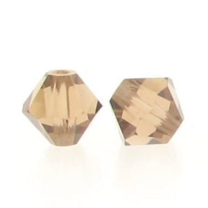 5301/5328 - 6mm Swarovski Bicone Crystal Bead - Light Smoked Topaz