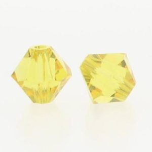 5301/5328 - 6mm Swarovski Bicone Crystal Bead -Light Topaz