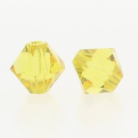 d606b081daeb9 5301/5328 - 6mm Swarovski Bicone Crystal Bead - Light Topaz