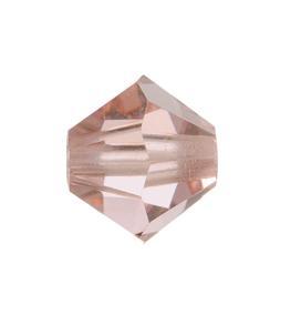 5301/5328 - 6mm Swarovski Bicone Crystal Bead - Vintage Rose