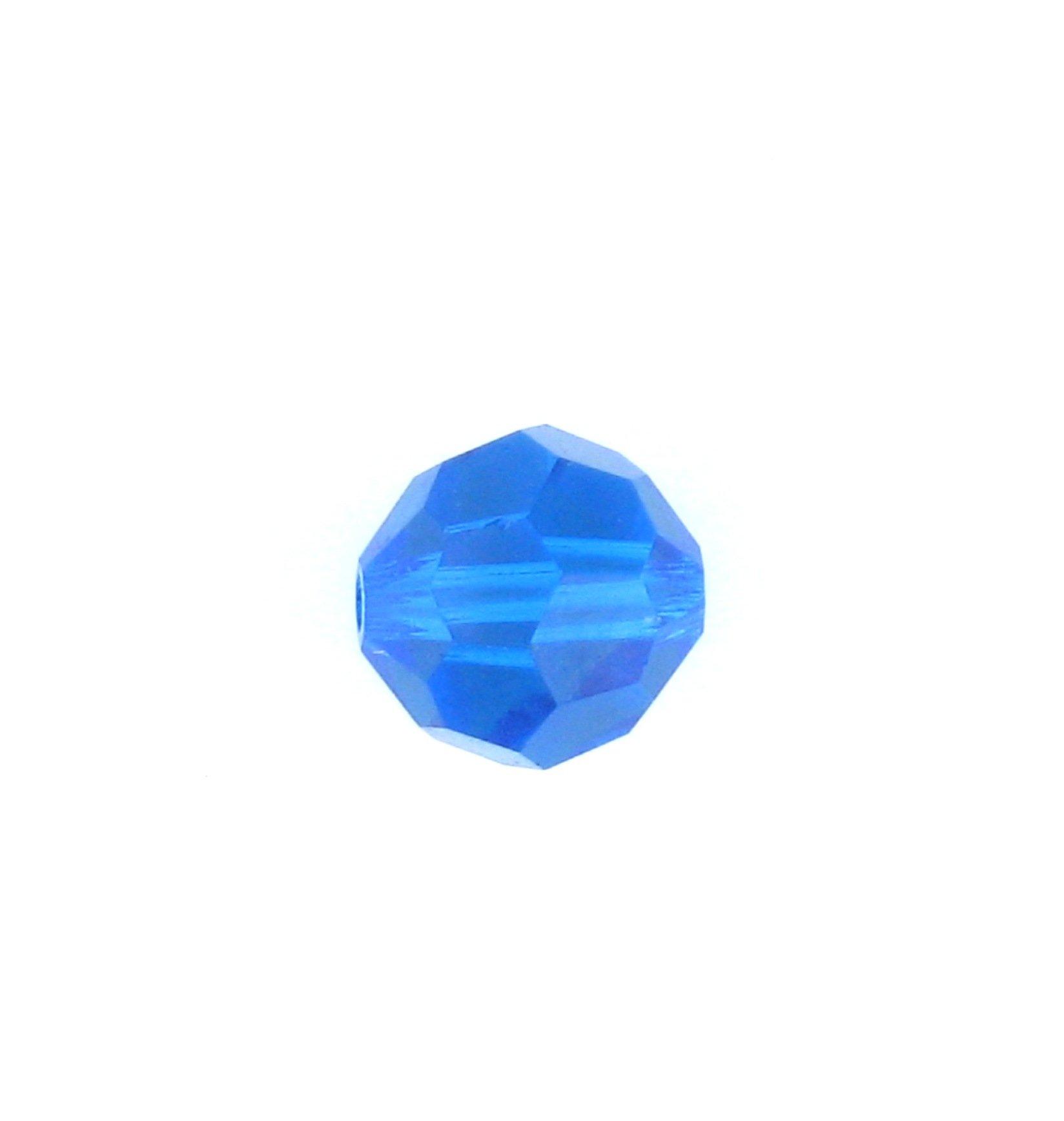 5d1da85a7 5000 - 4mm Swarovski Round Crystal - Capri Blue   Crystal Findings