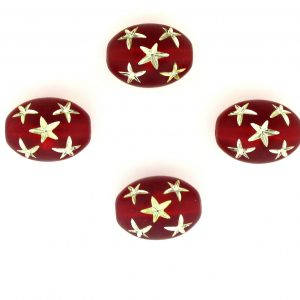 9021 - 13x10mm Gold Star Beads (Oval) - Siam