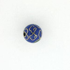 6004C - 4mm Round Cloisonne Bead - Blue