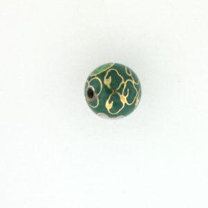 6004C - 4mm Round Cloisonne Bead - Green