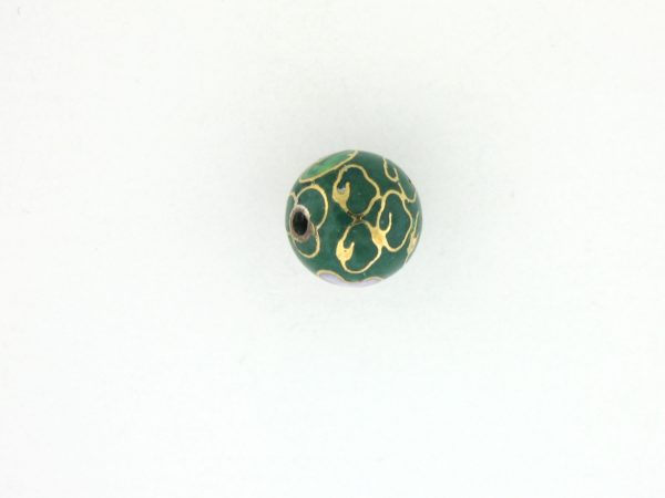 6004C - 4mm Round Cloisonne Bead - Green