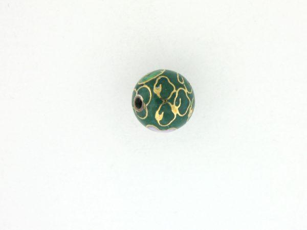 6006C - 6mm Round Cloisonne Bead - Green